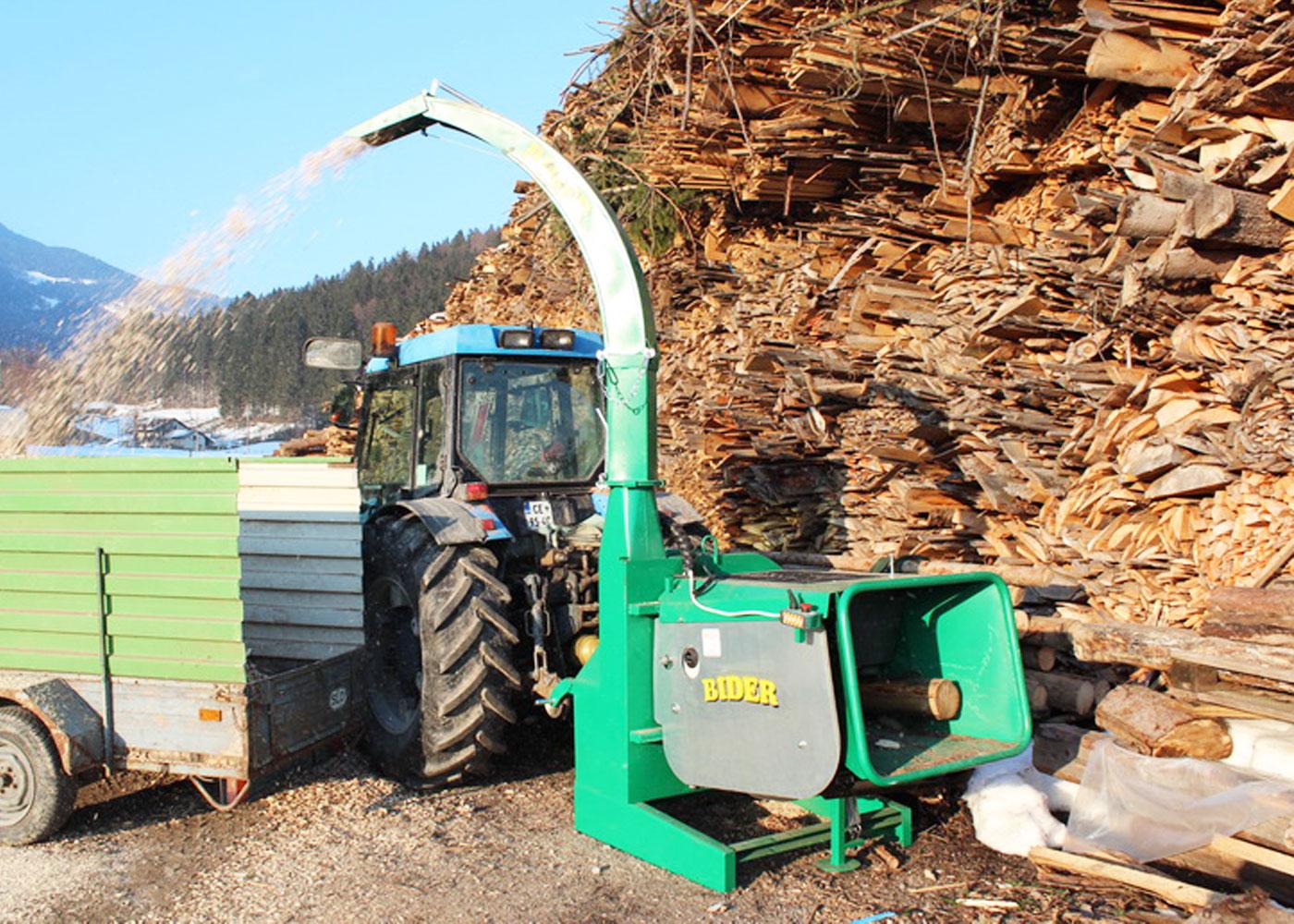 Traktorski sekalnik lesa Bider TS 20